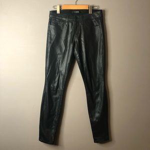 Joe's jeans coated black skinny size 26